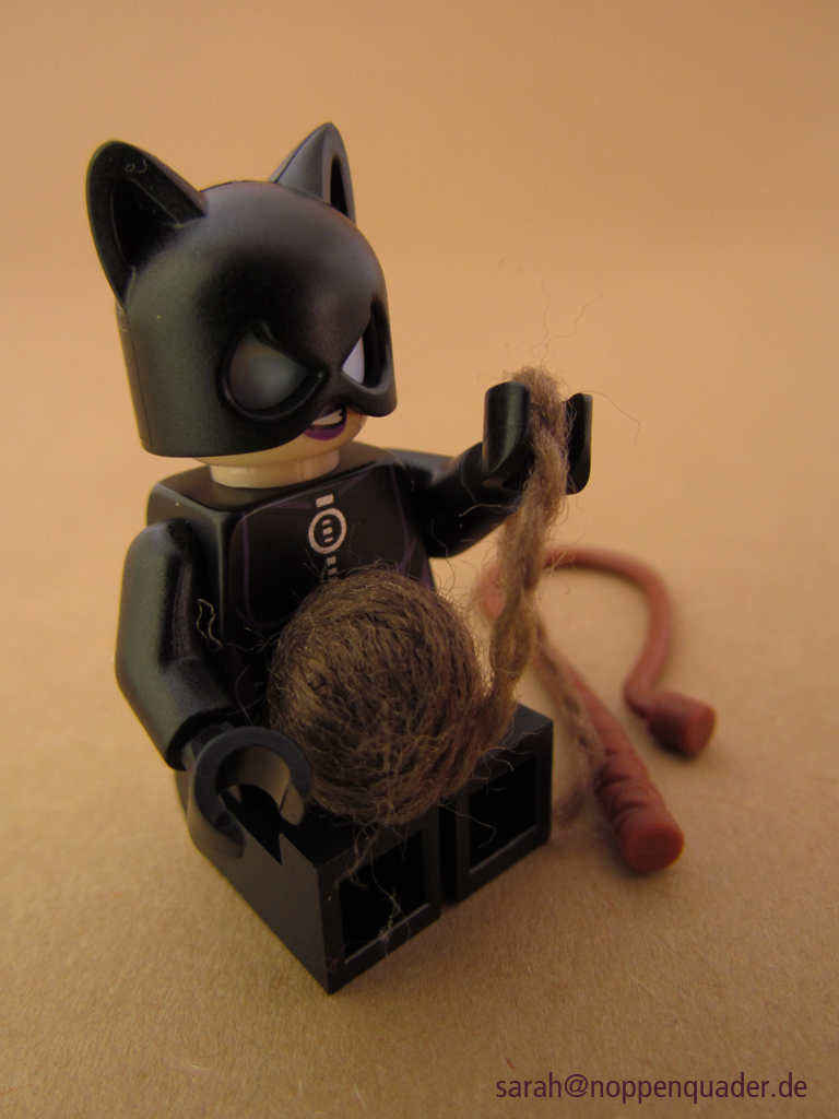 catwoman und wollknäul