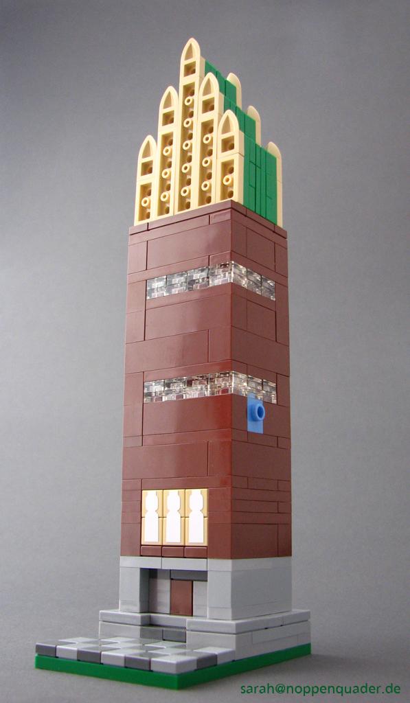 lego minifig noppenquader micro moc darmstadt mathildenhöhe künstlerkolonie Jugendstil olbrich architektur micromoc