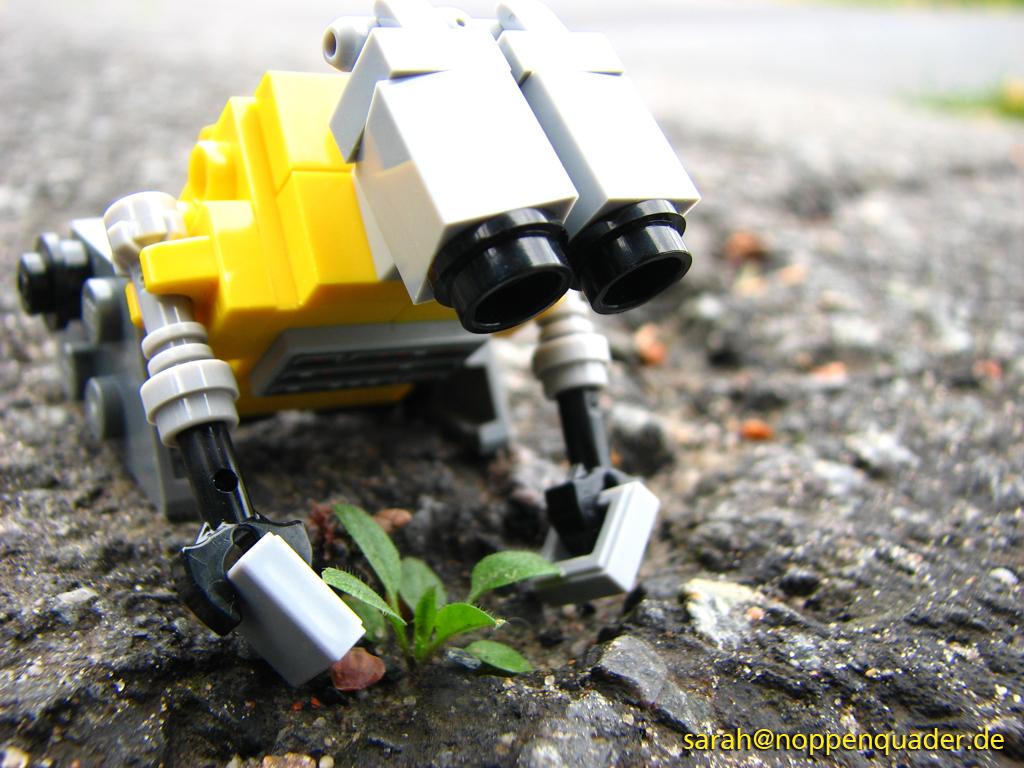 lego minifig noppenquader moc walle
