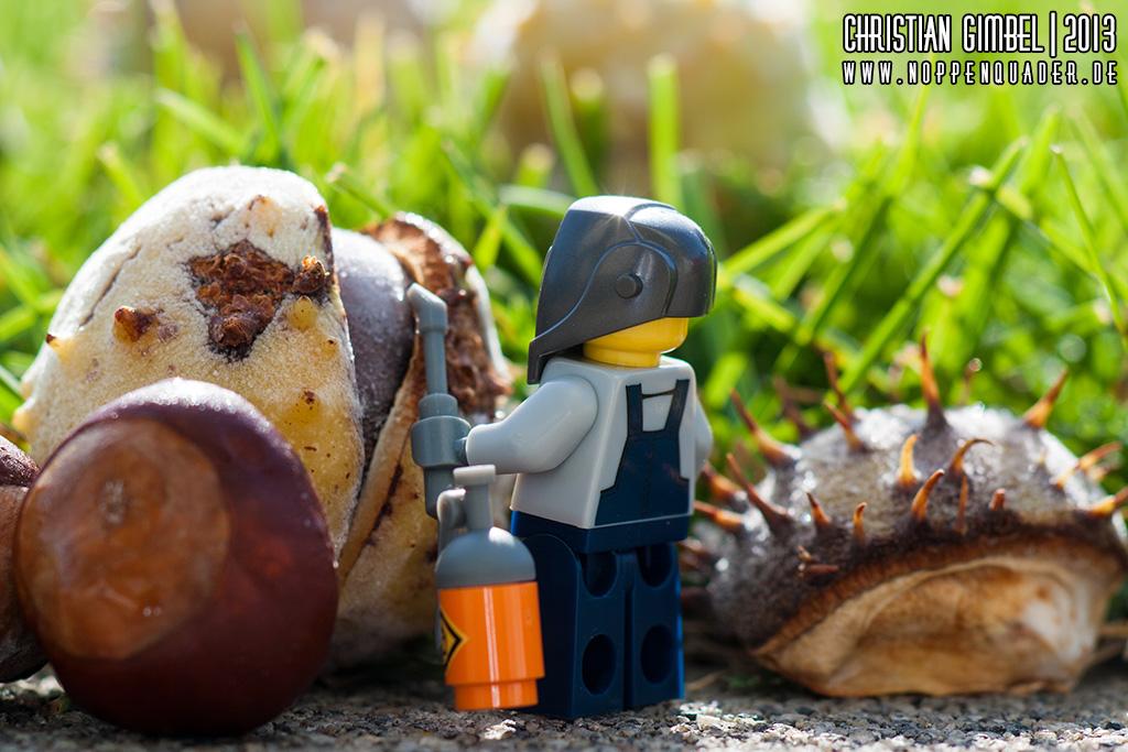 Lego Schweisser öffnet Kastanie - Artikelbild