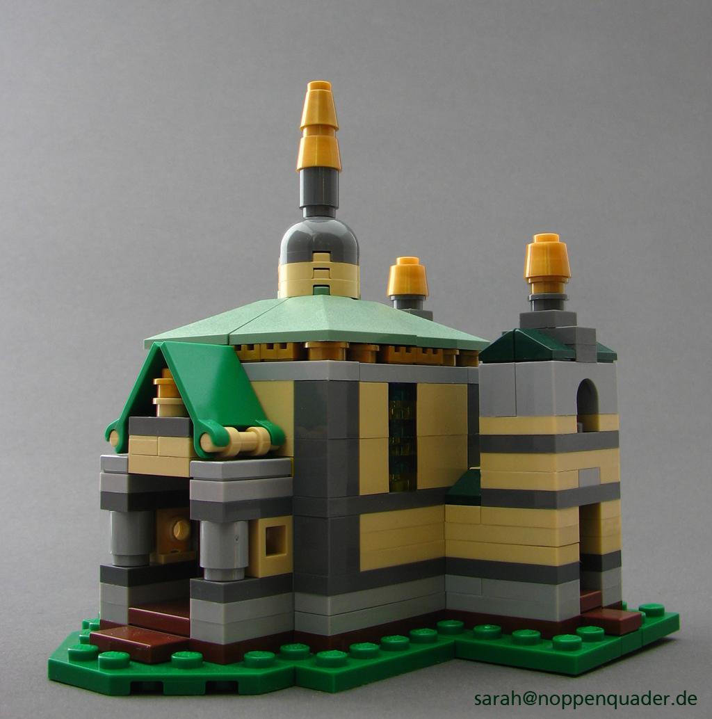 lego minifig noppenquader micro moc darmstadt mathildenhöhe künstlerkolonie Jugendstil architektur micromoc russische kapelle