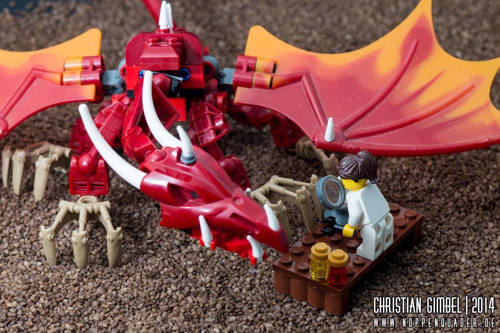 Lego Drache bekommt Maniküre - Artikelbild
