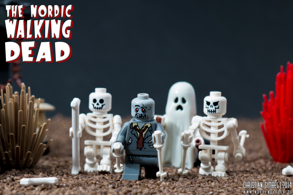 Lego The Nordic Walking Dead Previewbild mit Gruppe von Zombies und Skeletten