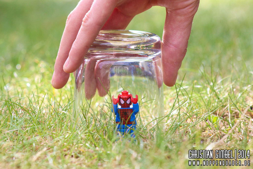 Lego Noppenqauder - Artikelbild - Captured Arachnida - Spiderman
