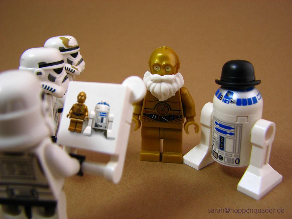 lego minifig noppenquader moc star wars droids c3po r2d2 wanted gesucht Das sind nicht die Droiden die ihr sucht