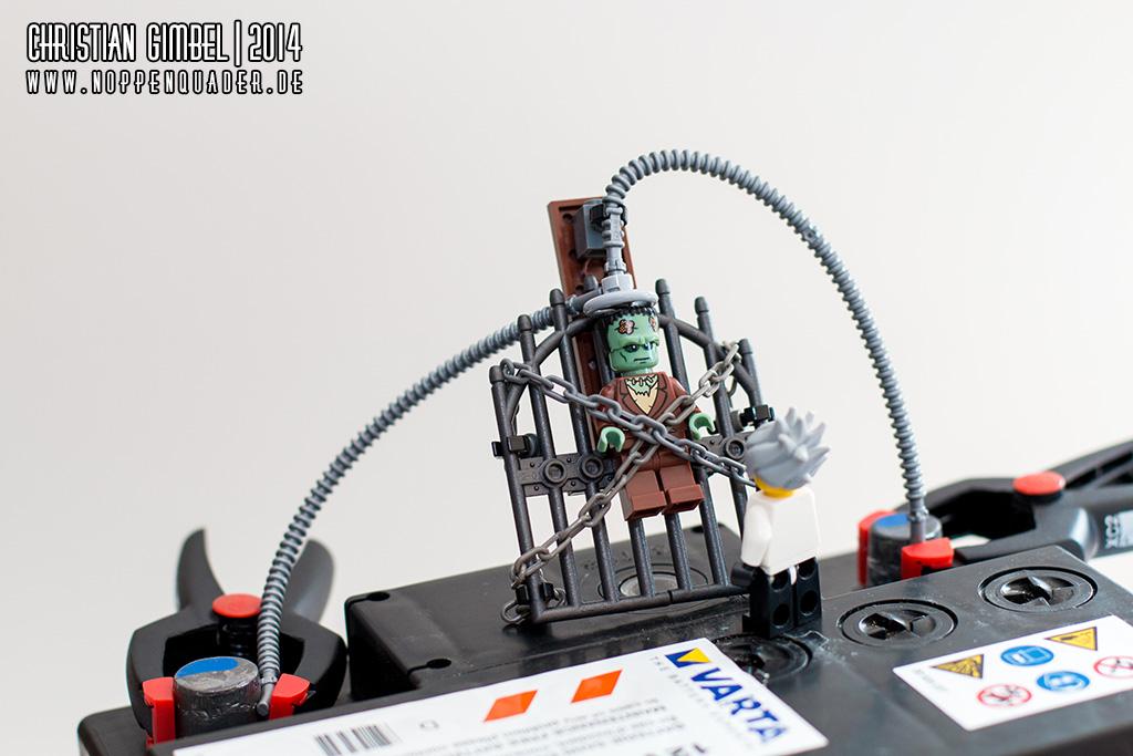 Noppenquader Frankenstein Starthilfe Autobatterie