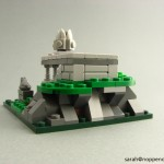 lego minifig noppenquader micro moc herr der ringe lord of the rings lotr Amon Hen