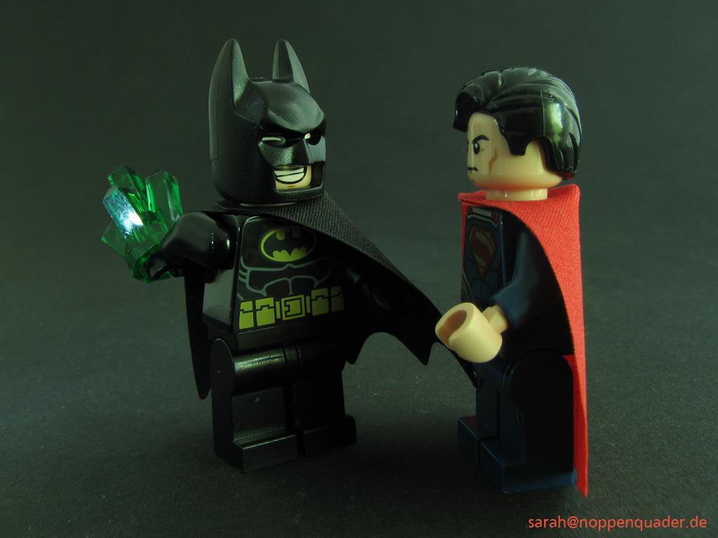 lego minifig noppenquader moc batman superman krytonite
