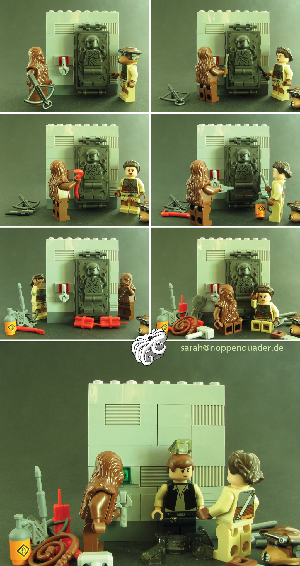 lego minifig noppenquader moc star wars stormtrooper christmas carbonite han solo leia chewie