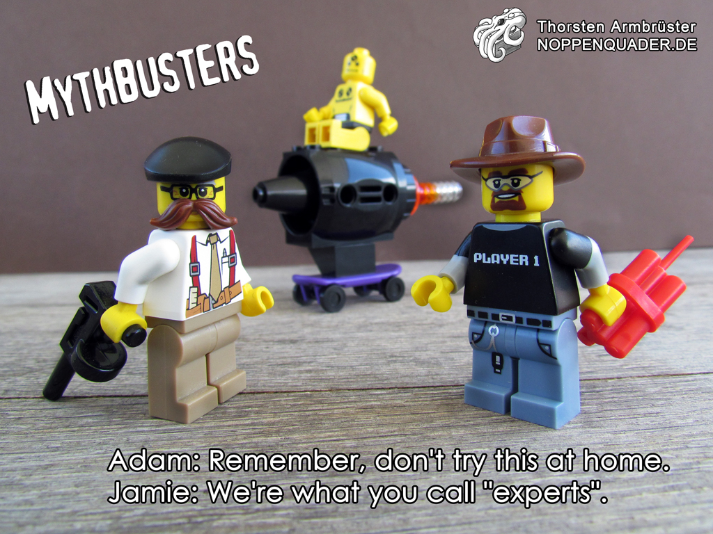mythbusters lego buster noppenquader adam jamie