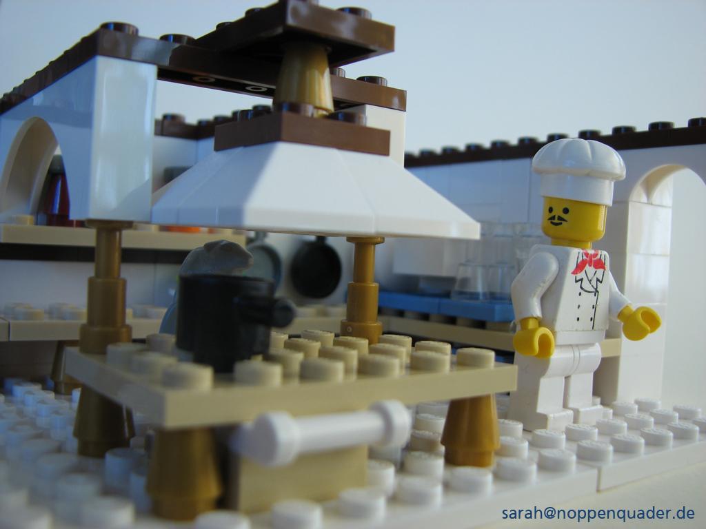 lego minifig noppenquader moc Koch Ratte Küche