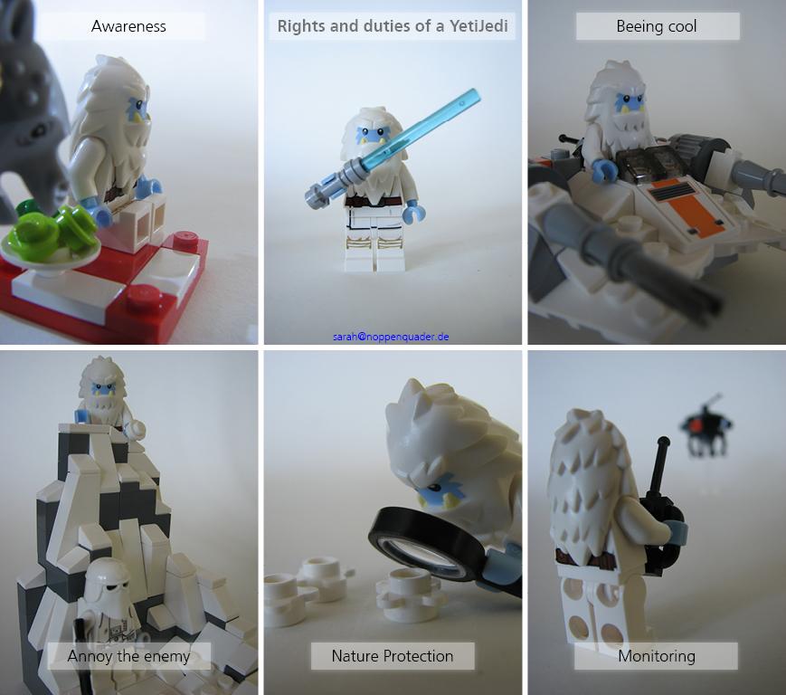lego minifig noppenquader moc star wars Jedi Yeti Snowspeeder Snowtrooper Drone