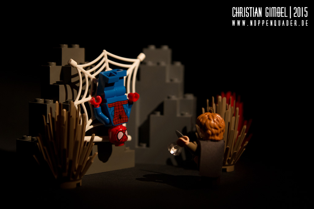Noppenquader Lego Sam vs. Spiderman Artikelbild