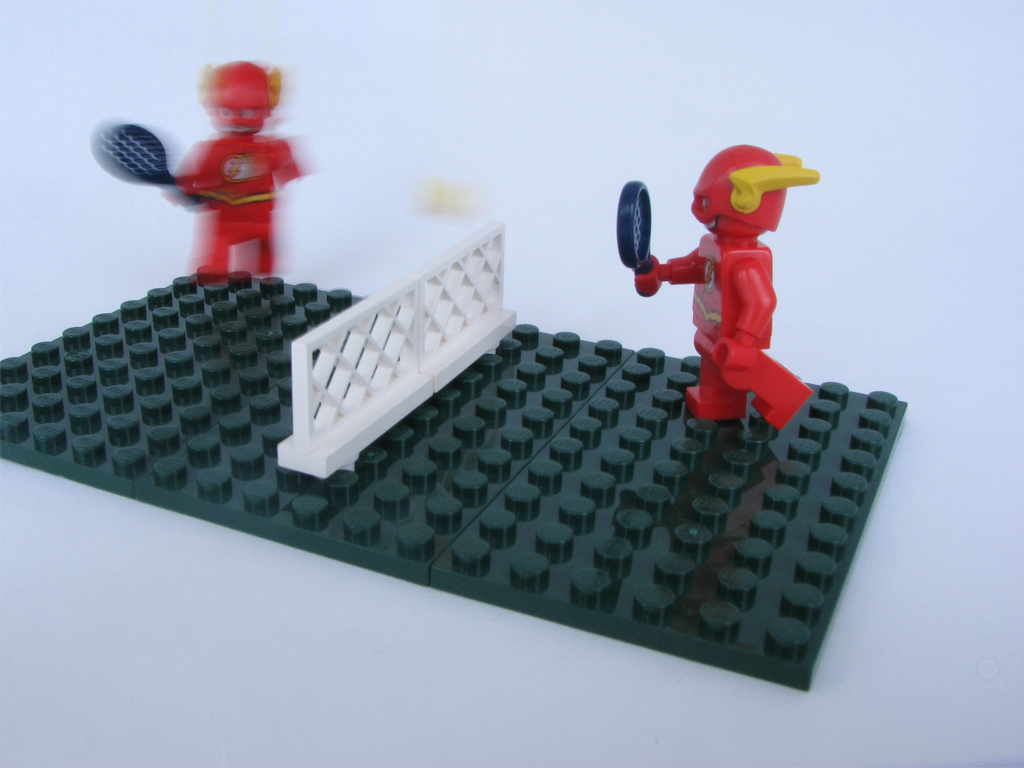 lego minifig noppenquader moc DC Superhero The Flash Tennis