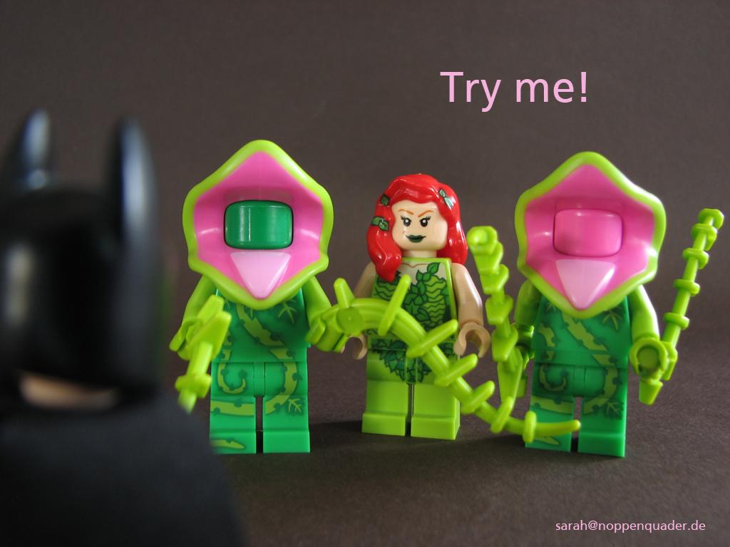 lego minifig noppenquader moc villain poison ivy henchmen batman fleischfressende pflanze