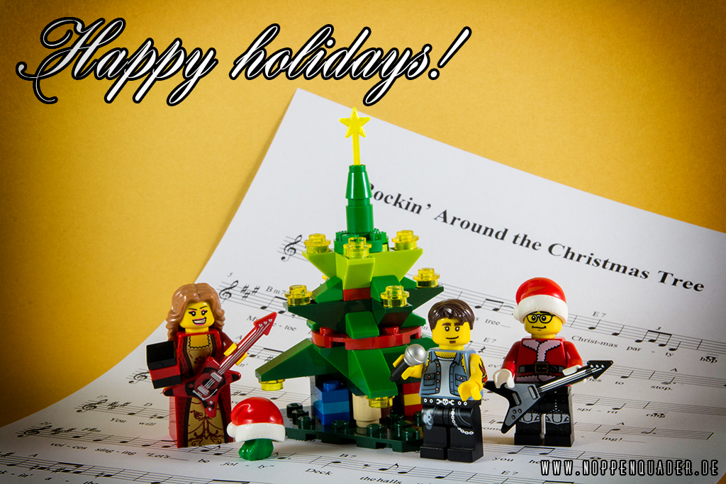 noppenquader lego rocking around the christmas tree article image