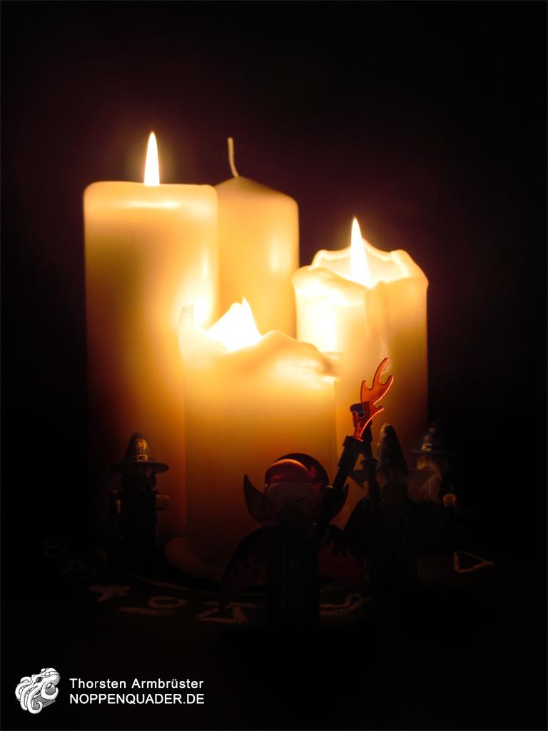 lego, moc, advent, magier, zauberer, ritual, adventskranz, kerze, noppenquader