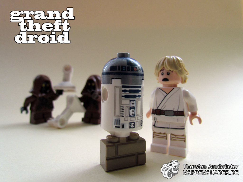 lego, noppenquader, star wars, droid, droide, luke, skywalker, moc, legophotography, minifig, minifigs