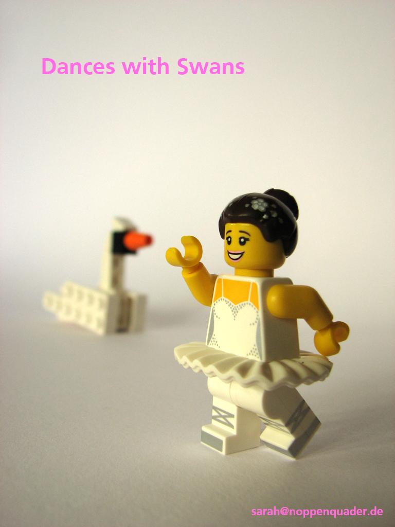 lego minifig noppenquader moc Schwanensee Swanlake der mit dem Wolf tantz Ballerina Schwan Tanz