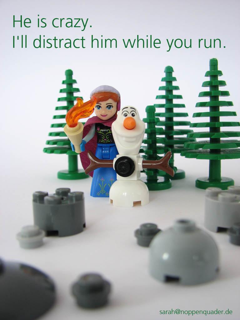 lego minifig noppenquader moc minidoll disney anna olaf frozen eisprinzessin snowman