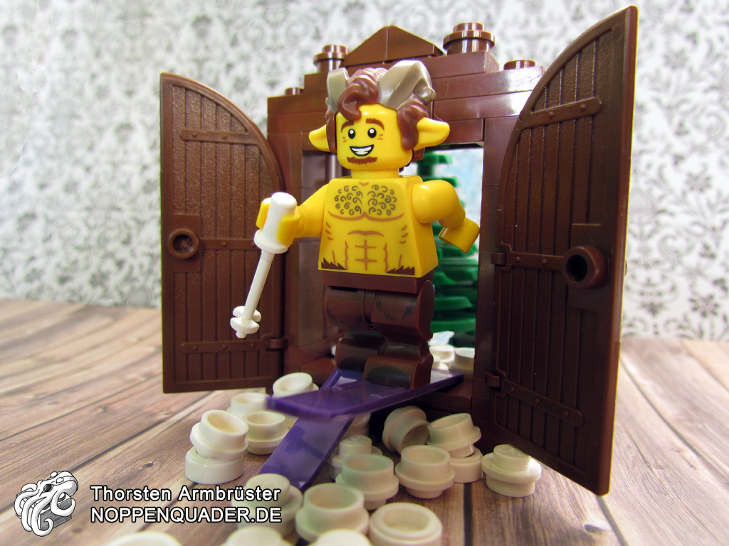 lego noppenquader narnia faun fabelwesen fairytale satyr mister tumnus wardrobe kleiderschrank ikea chronicles
