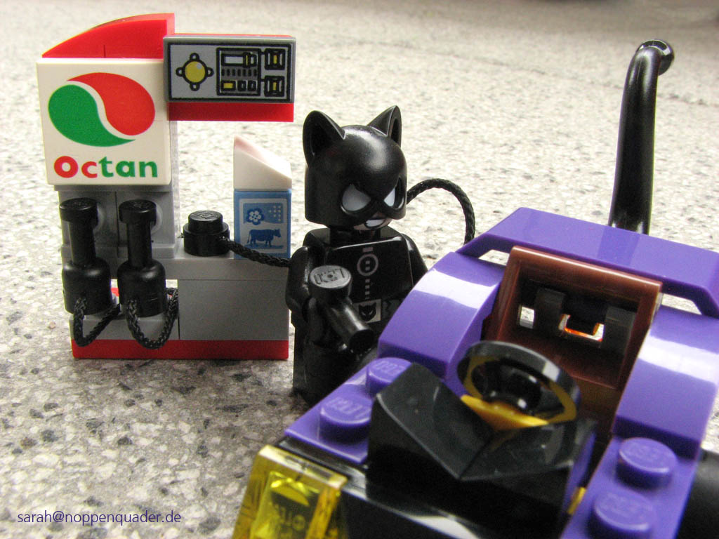 lego minifig noppenquader mighty micros super heroes moc Batman vs. Catwoman 76061 gas station milk