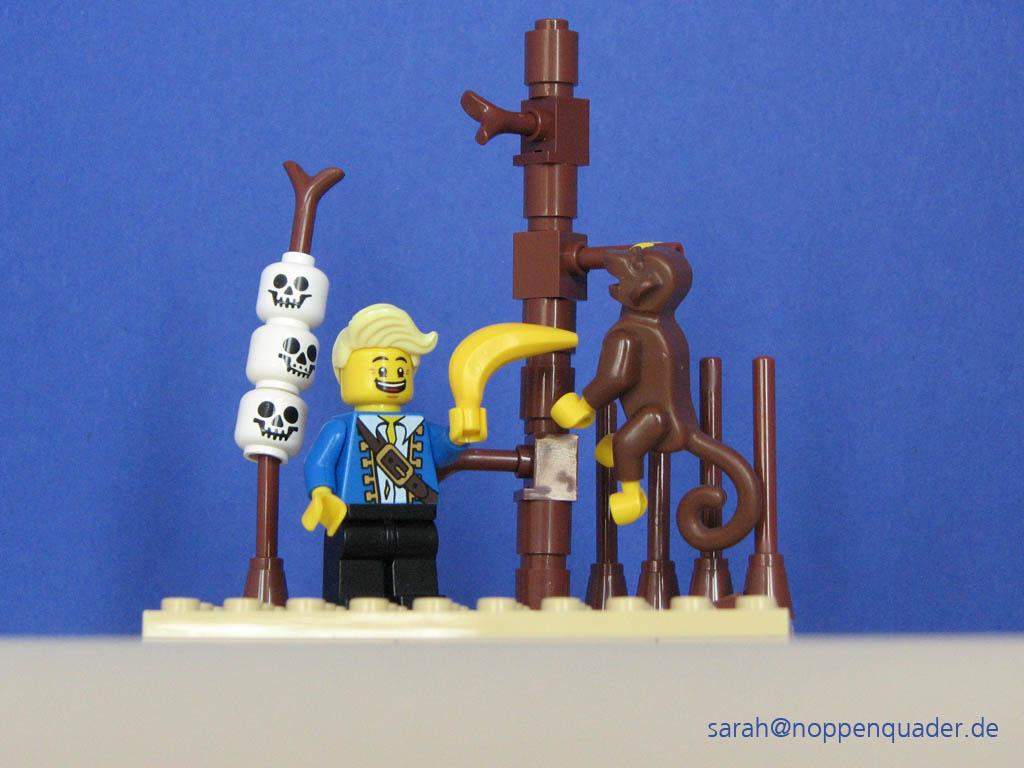 lego minifig noppenquader moc the secret of monkey island Guybrush Threepwood Affe Totem Hebel