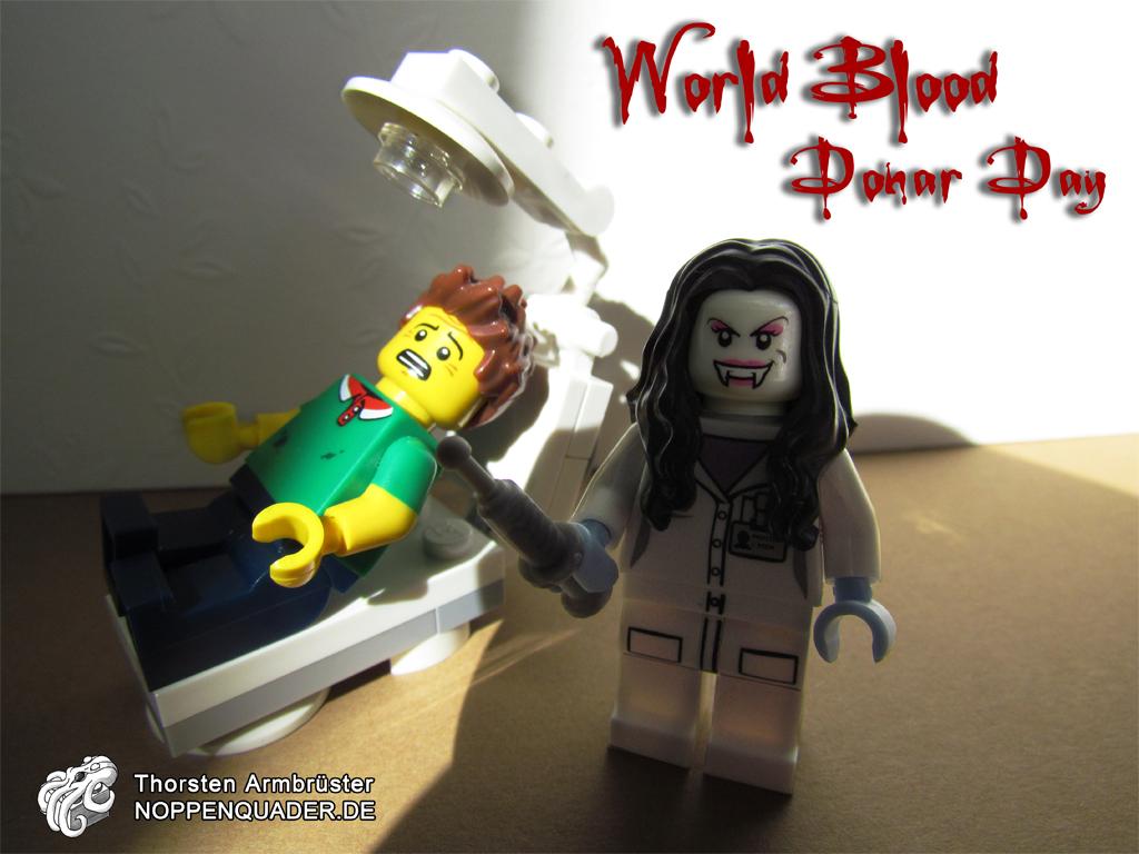 lego blood blut donar event doctor doktor blutspende vampir blutsauger monster noppenquader minifig minigis moc