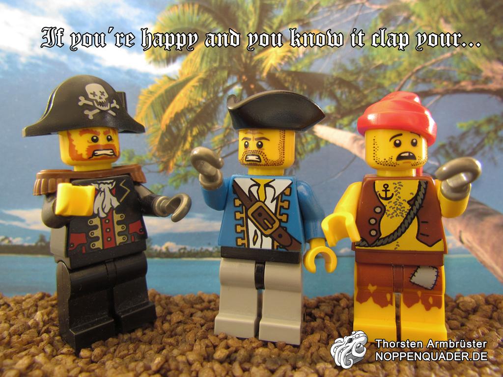 lego pirates, piraten, lied, song, noppenquader, haken, hook, seeräuber, moc