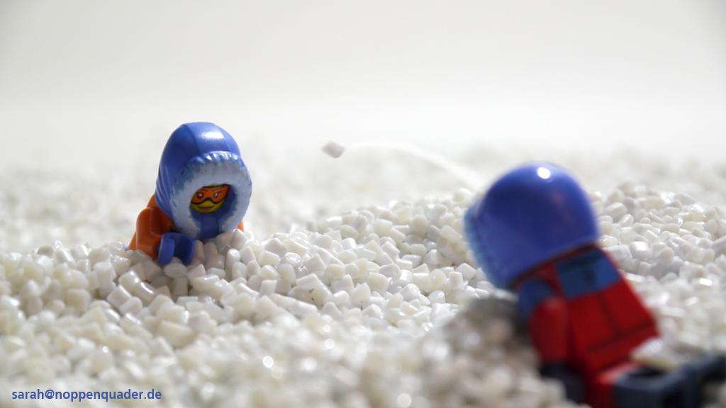 lego minifig noppenquader moc Kunststoffgranulat weiß Schnee Schneeballschlacht