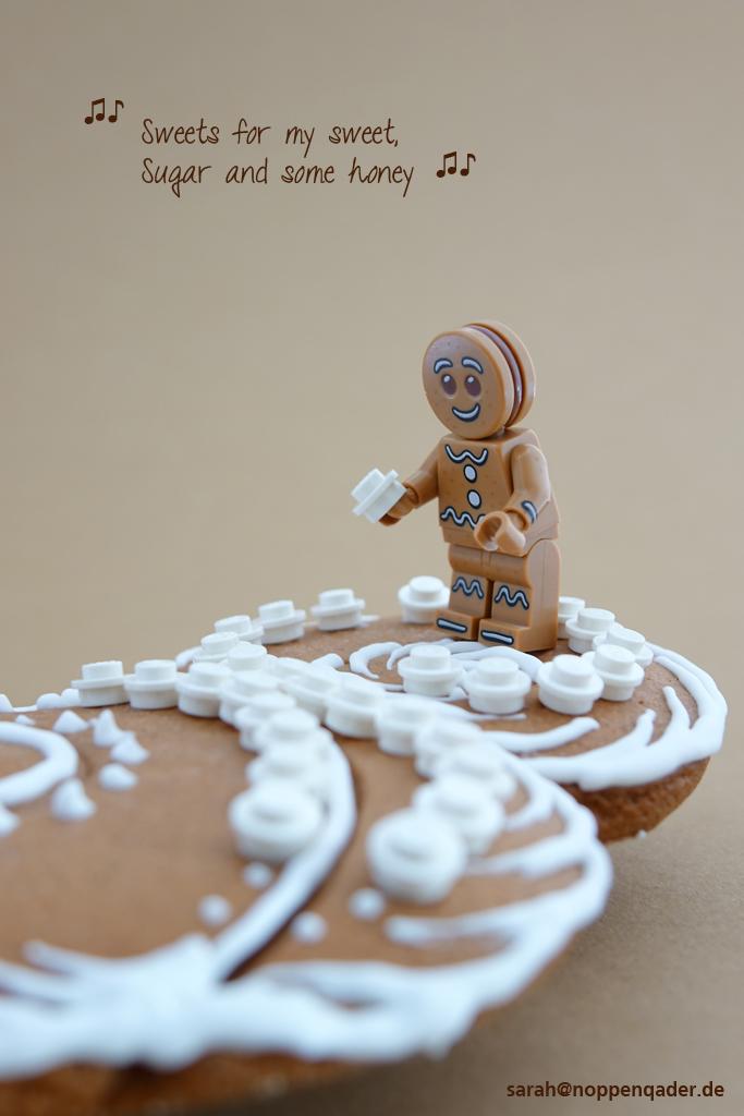 lego minifig noppenquader moc christmas gingerbread Lebkuchen Zuckerguss