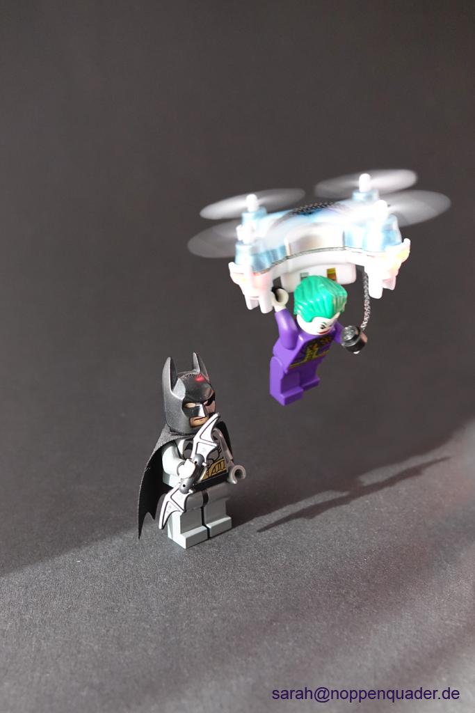 lego minifig noppenquader moc batman joker drone quadrocopter gadget