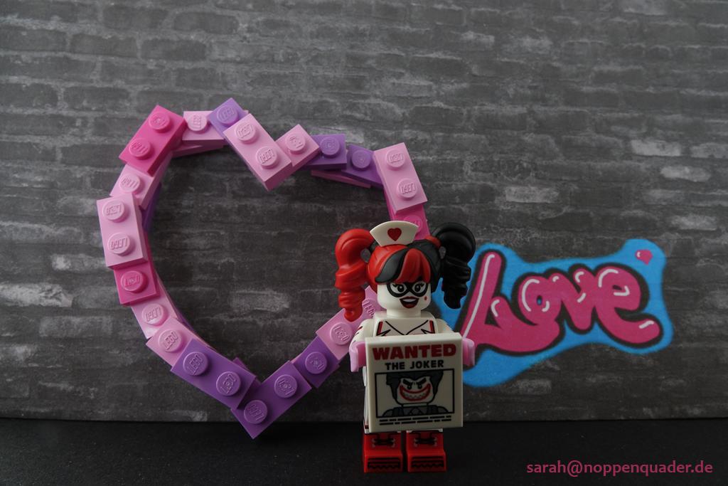 lego minifig noppenquader moc Harley Quinn Wanted Joker Heart Love Valentines