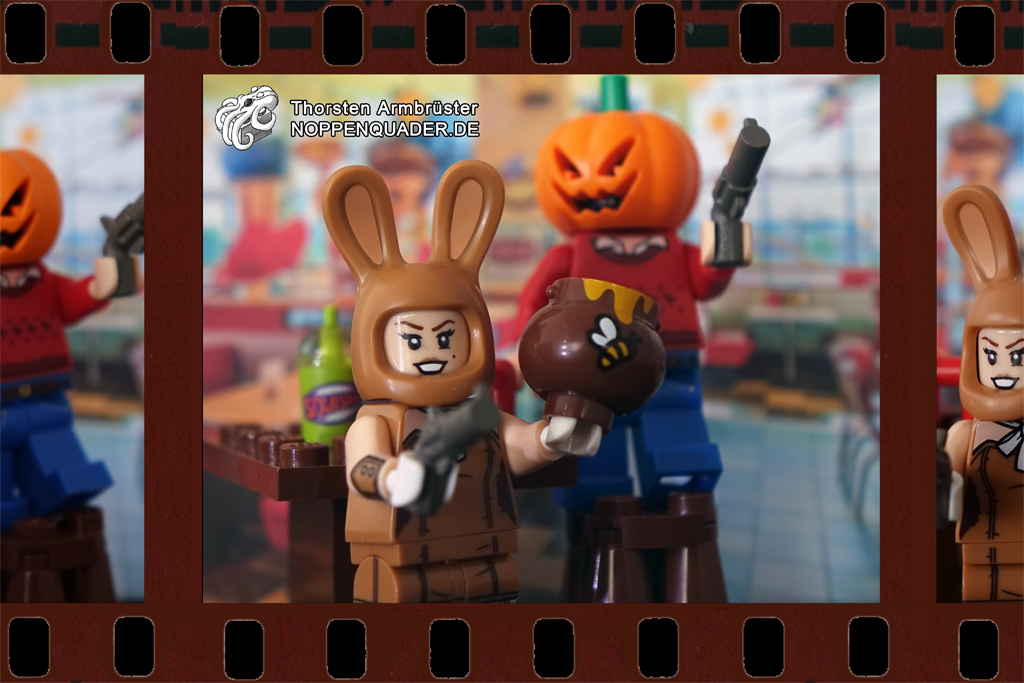pilp fiction honey bunny pumkin lego noppenquader tarentino moc minifigs minifig movie quiz