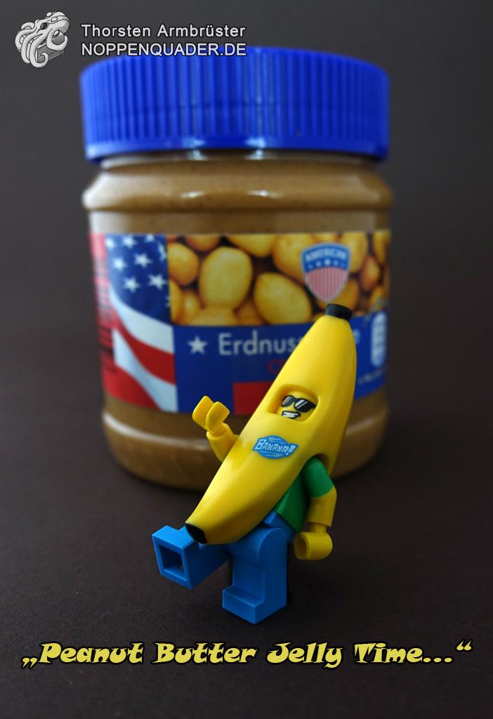 lego peanutbutter peanut butter jelly time lego moc minifig meme erdnussbutter banane dancing noppenquader