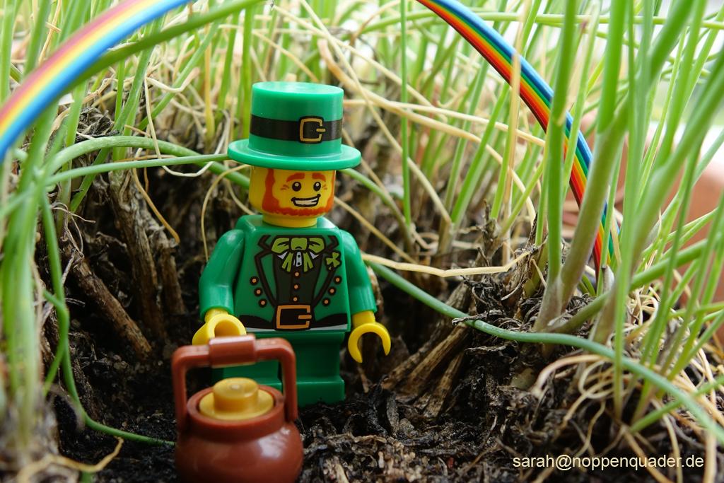 lego minifig noppenquader moc Kobold regenbogen gold schatz