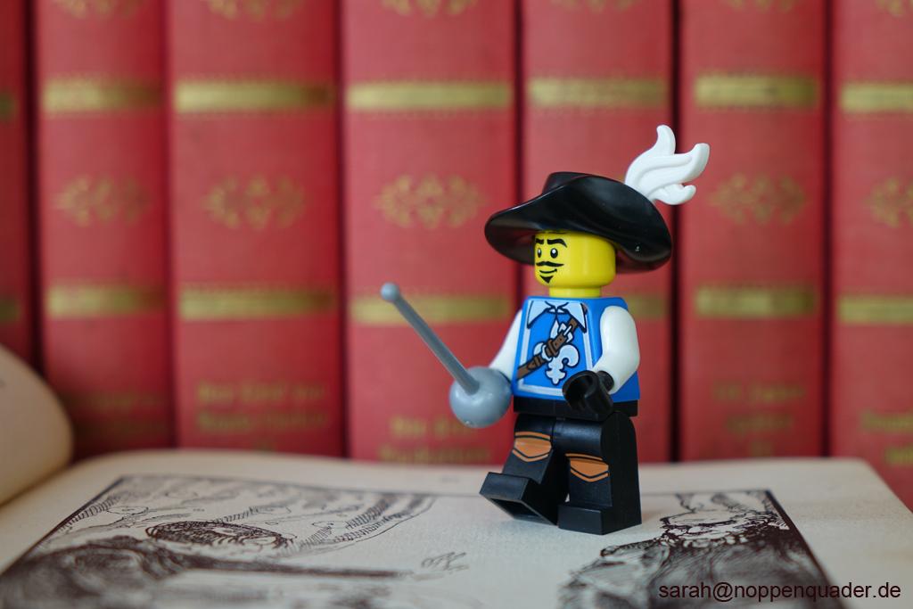 lego minifig noppenquader moc Dumas Musketier Bücher Kupferstich