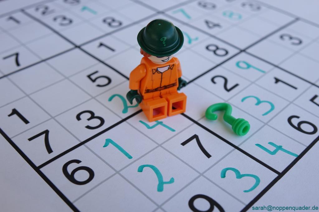 lego minifig noppenquader moc Riddler Sudoku Questionmark numbers green