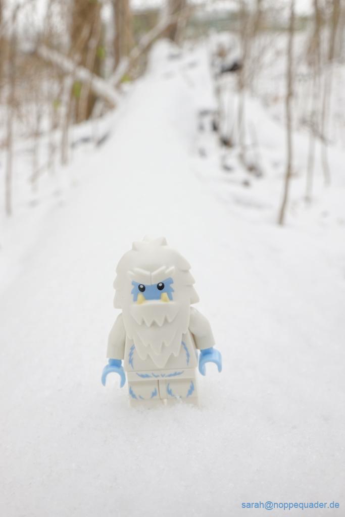 lego sammelfigur serie yeti schnee outdoor minifig